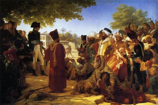 Napoleón perdona a rebeldes egipcios.